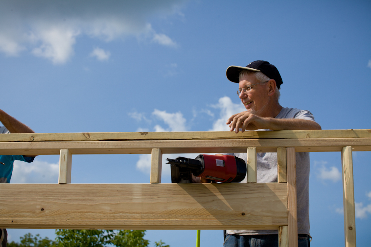 exterior framing for accessible home in cedarburg wisconsin