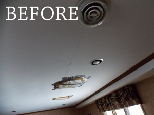 Ceiling Repair and Paint by Smart Accessible Living