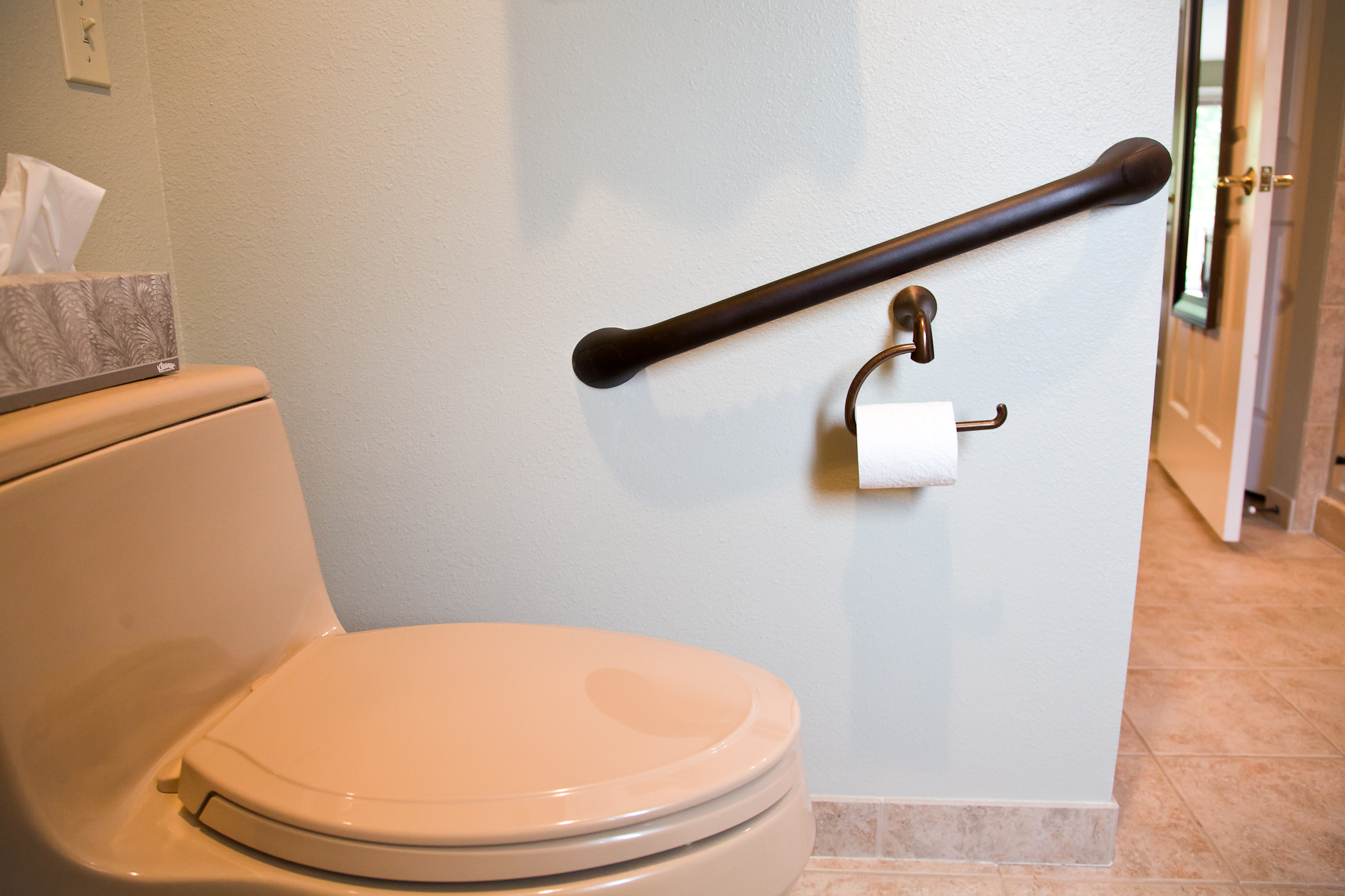 Installing grab bar in bathroom -  Bathroom Grab Bars Installed By Smart Accessible Living
