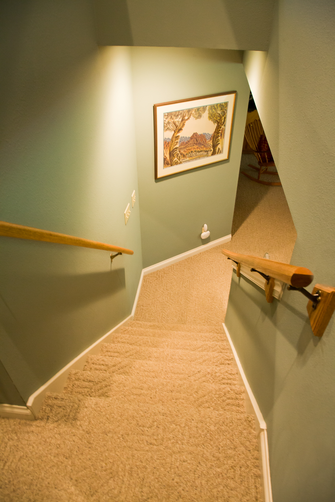 Double Stair Railings Installed by Smart Accessible Living
