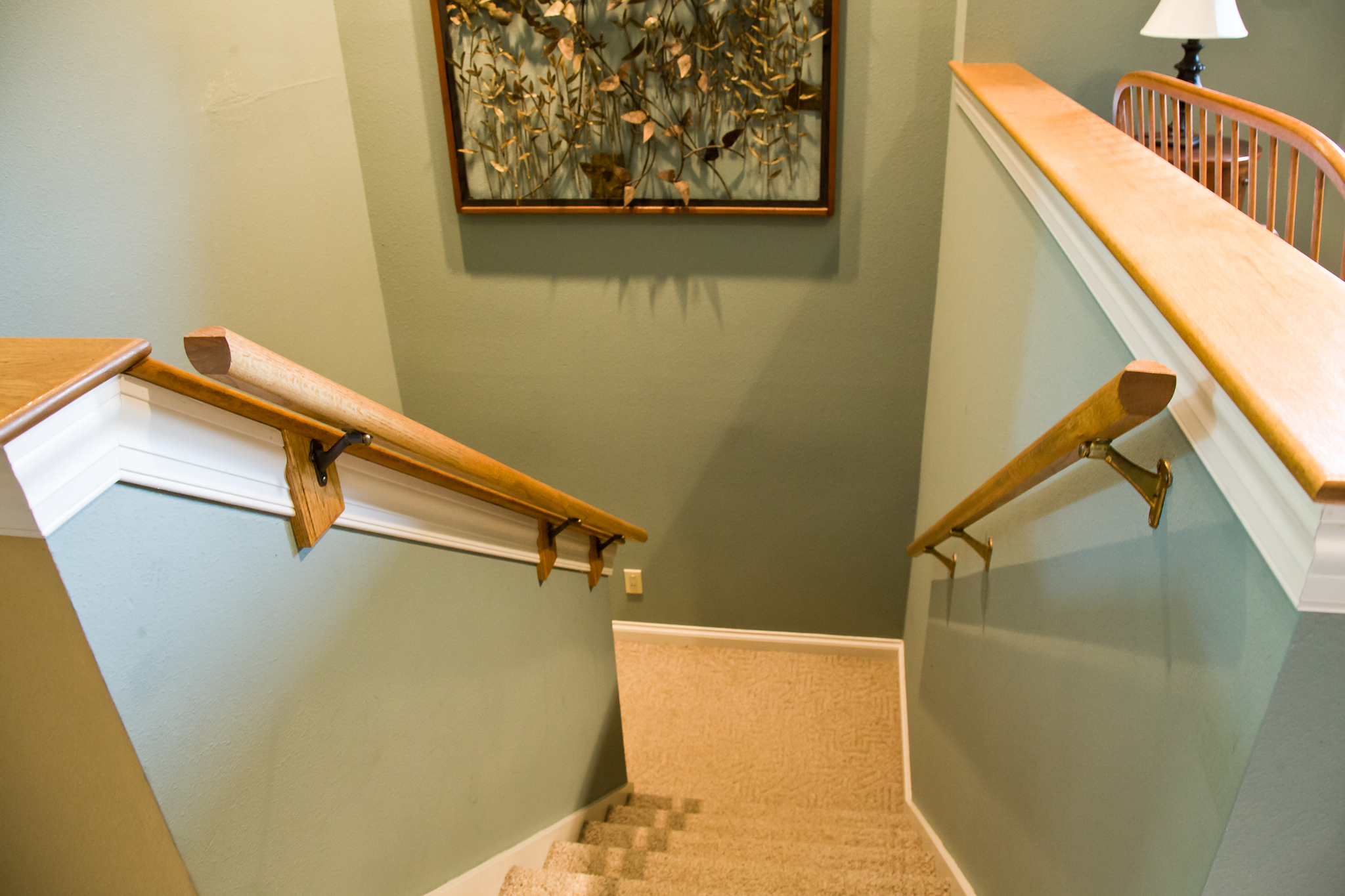 Double Stair Railing | Home Safety Elderly | Smart Accessible Living