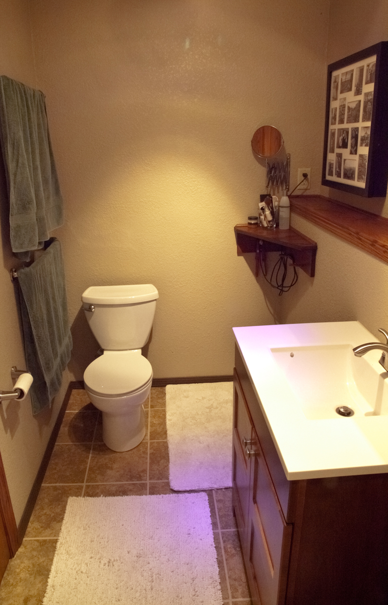 Bathroom remodel custom tile shower smart accessible for Custom bathroom renovations