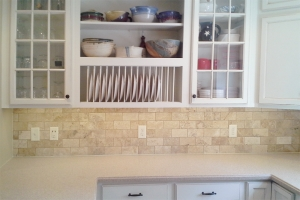 A Natural Stone Tile Backsplash