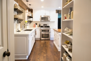 making a kitchen open concept