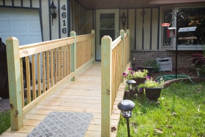 handicap ramp in residential west bend, wi