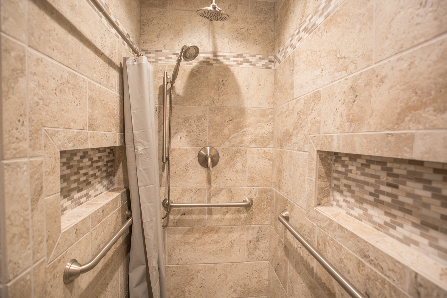 Smart Accessible Living Shower Bathroom Accessible Remodel