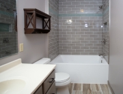 Bathroom Remodel with Tile Bathtub Surround