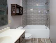 Bathroom Remodel with Tile Bathtub Surround