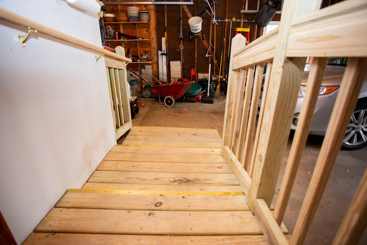 accessible ramp built in Wisconsin garage