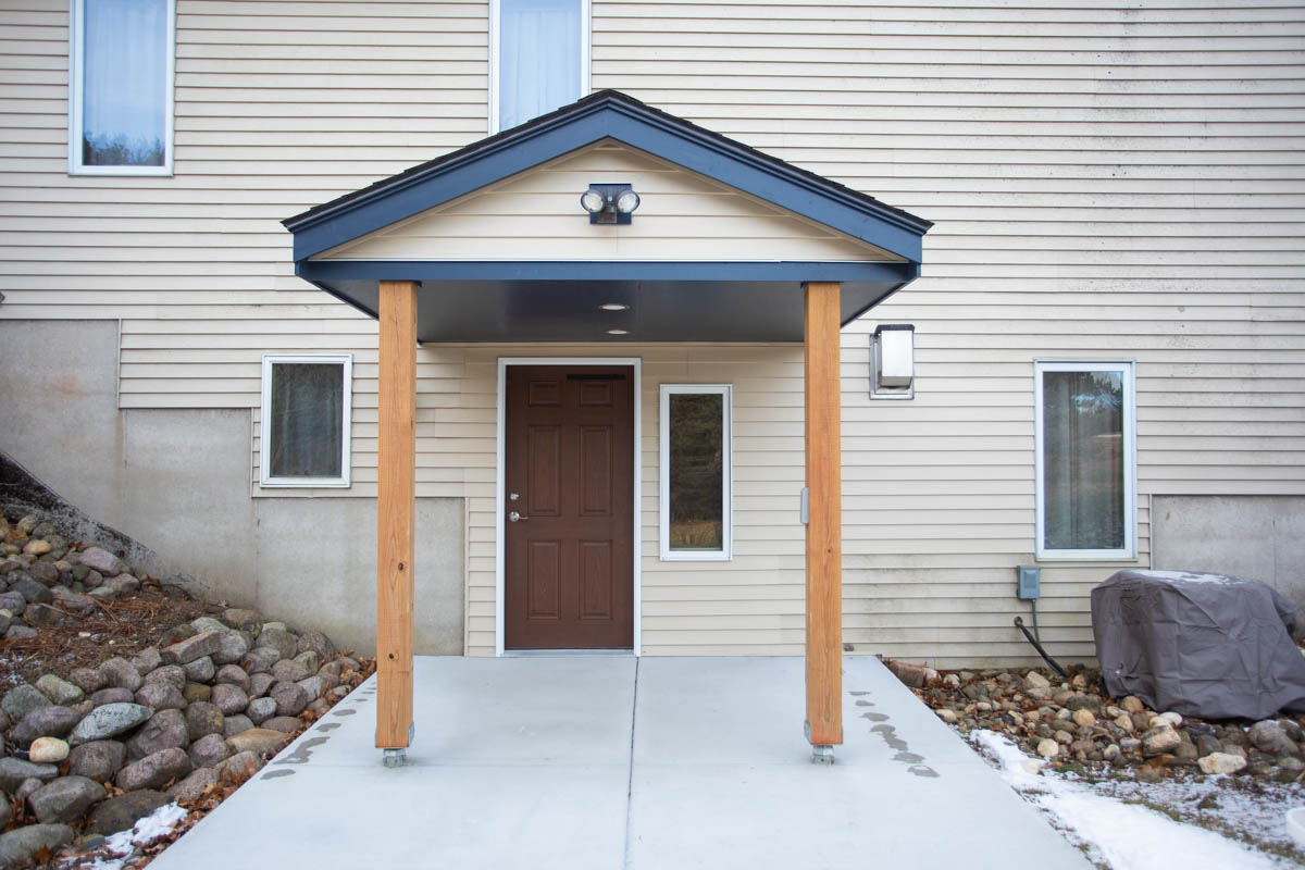 separate entrance for accessible basement remodel