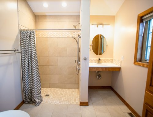 Bathroom expansion & reconfiguration for accessibility